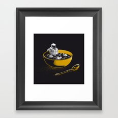 Space Flakes Framed Art Print