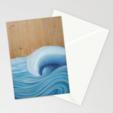 Wooden Wave Scape Stationery Cards