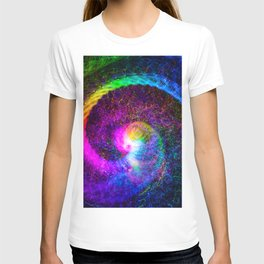 Spiral tie dye light painting T-shirt