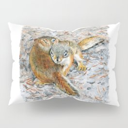 Siblings, baby red squirrels by Teresa Thompson Pillow Sham