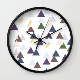 Tribal Triangle Pattern Wall Clock