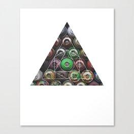 Graffiti Spray Cans - Geometric Photography Canvas Print