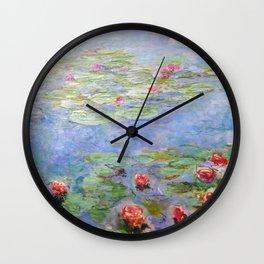 Claude Monet's Water Lilies Wall Clock