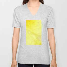 Abstract Yellow Sun by Robert S. Lee Unisex V-Neck