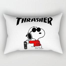 Snoopy Skateboard Rectangular Pillow