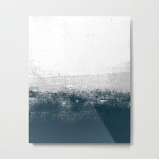 Ocean No. 1 - Minimal ocean sea ombre design  Metal Print