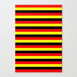 angola belgium uganda flag stripes Canvas Print