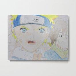 Naruto Unleashed Metal Print