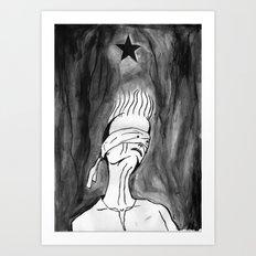 Lazarus 2 - Bowie Blackstar tribute, version Art Print