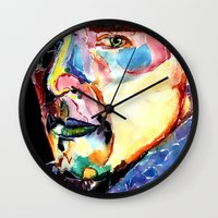 benedict cumberbatch Wall Clocks featuring Sherlock Benedict Cumberbatch by Siriusreno