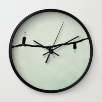 the lights Wall Clocks featuring lights by Beverly LeFevre