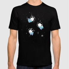 Space Bunnies Black Mens Fitted Tee LARGE