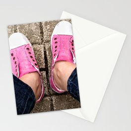 Pink sneakers. Stationery Cards