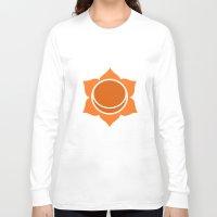 chakra Long Sleeve T-shirts featuring Sacral Chakra by cosmicsenpai
