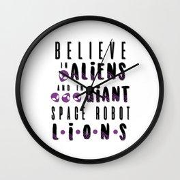 believe in aliens Wall Clock