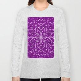 Single Snowflake - Purple Long Sleeve T-shirt