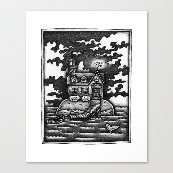 House Island Canvas Print