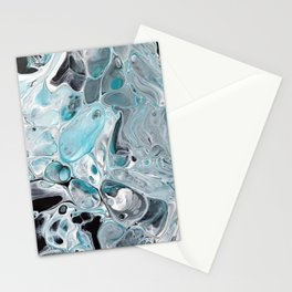 Ice Cold, pale blue Acrylic Painting Stationery Cards