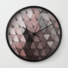Triangles Putty Mauve Wall Clock
