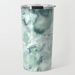 Marble Mist Green Grey Travel Mug