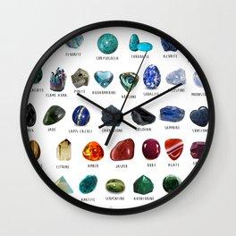crystals gemstones identification Wall Clock