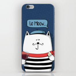French cat, Le Meow... iPhone Skin