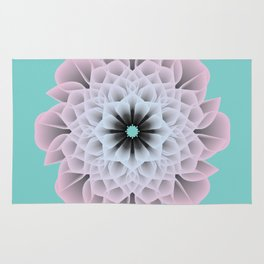 Digital Flower of Life (Zen) Rug