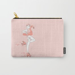 Flamingos & Roller Skates - Pink Carry-All Pouch