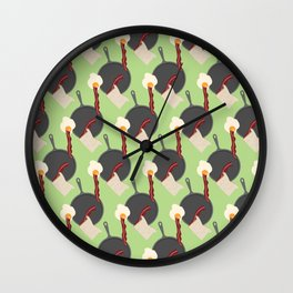 Breakfast Pattern #4 Wall Clock