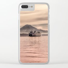 Morning Commute Clear iPhone Case