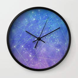 Map of the Stars Wall Clock