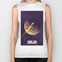 Tour the Universe - Sci fi poster Biker Tank