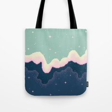Pixel Day and Night Galaxy Tote Bag
