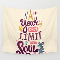 pixar Wall Tapestries featuring Your Only Limit Is Your Soul by Risa Rodil