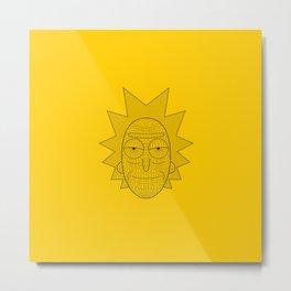 Geometric Rick Metal Print