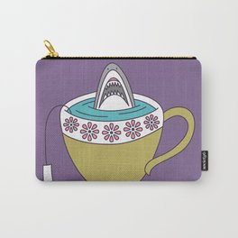Shark in Tea Carry-All Pouch