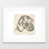 cats Framed Art Prints featuring cats by Laura Graves