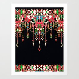 Modern Deco in Red and Black Art Print