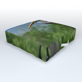 Great Egret Two - Utah Outdoor Floor Cushion