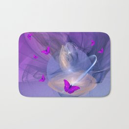 Birth of butterfly wishes Bath Mat