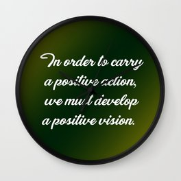 Positive Action Wall Clock
