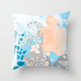 Sheyn - Modern abstract print in summer colors fresh beach design abstract painting decor Throw Pillow