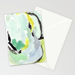 Twirl Green: Abstract Painting Stationery Cards