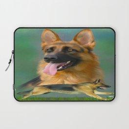 German Shepherd Breed Art Laptop Sleeve