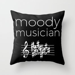Moody musician (dark colors) Throw Pillow