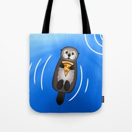 Sea Otter with Pizza Tote Bag