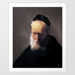 Rembrandt's Old Man In A Cap Art Print