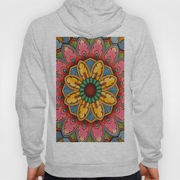 Indian Mandala Flower Hoody