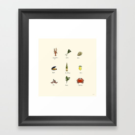 Summer kitchen Framed Art Print