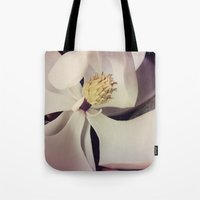 magnolia Tote Bags featuring Magnolia by Deepti Munshaw